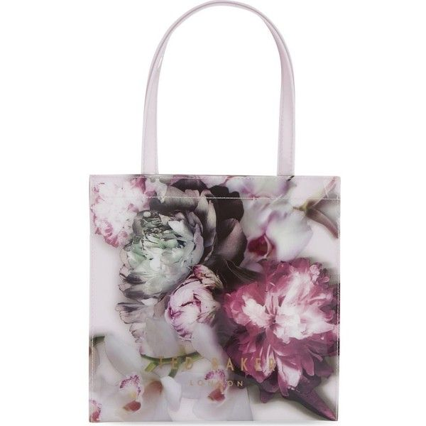 TED BAKER Ethereal posie small shopper ($42) ❤ liked on Polyvore featuring bags, handbags, tote bags, black, ted baker tote bag, ted baker tote, shopping tote, ted baker handbags and black purse