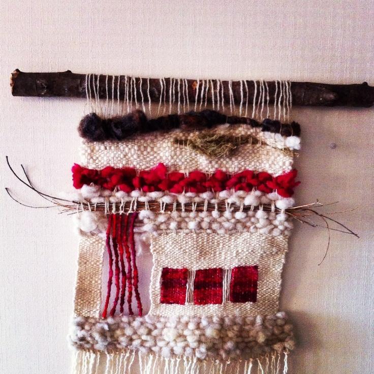 Telar rústico lana y fibras