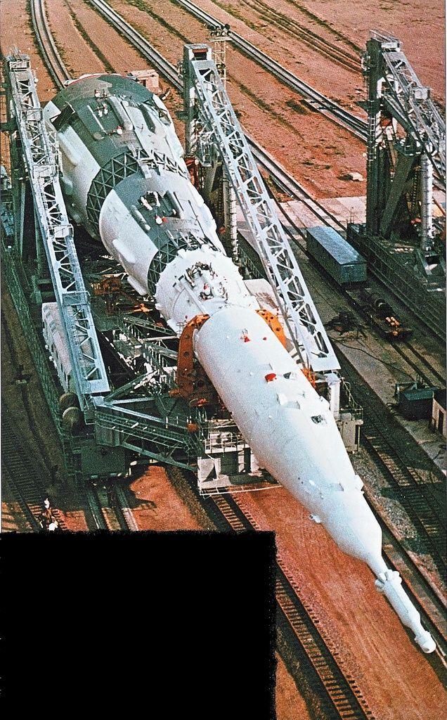 USSR N1-L3 Moon Rocket Transporter-Erector. Documented by blogger Marti Trolle.