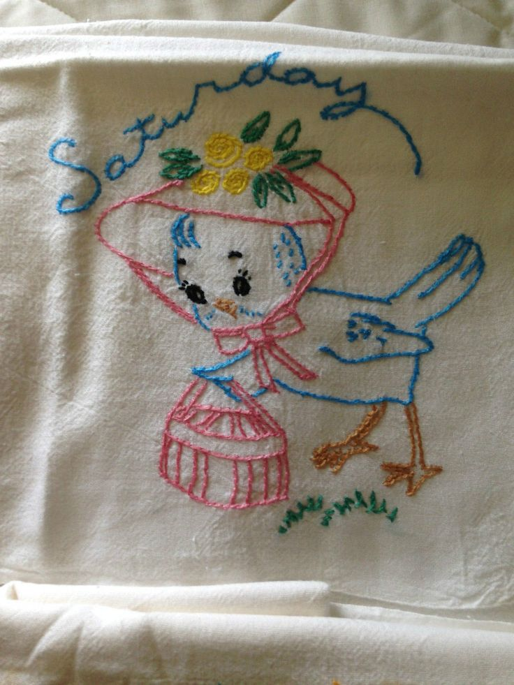 embroidery designs kitchen towels 1000 images about vintage embroidered dish towels on 7053