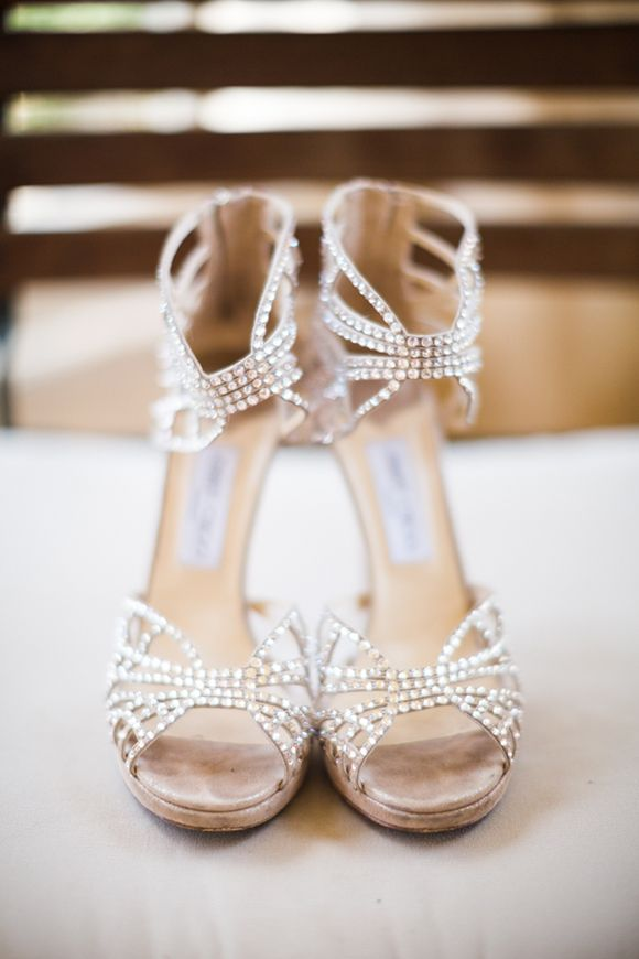 Gorgeous, sparkly shoes. Such a fabulous vintage feel to them, as if they're just waiting for Ginger Rogers to slip them on...