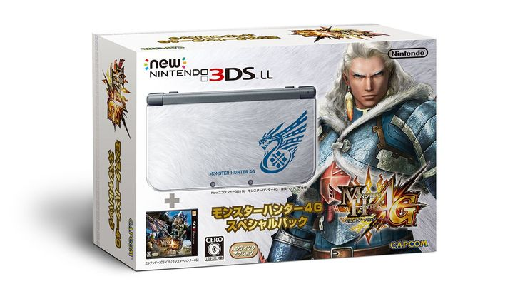 New 3DS LL (XL) Limited Edition - Monster Hunter 4G - Box