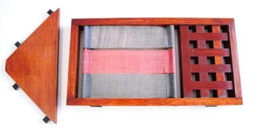 Japanese-antique-style-natural-wooden-display-case-like-vintage-wall-shelf-hemp