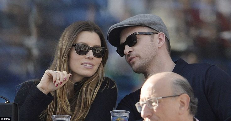 Justin Timberlake and his wife Jessica Biel watched Rafael Nadal and Novak Djokovic as they battled it out at the star-studded US Open final on Monday