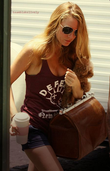 Blake Lively in a Defend New Orleans shirt!!?