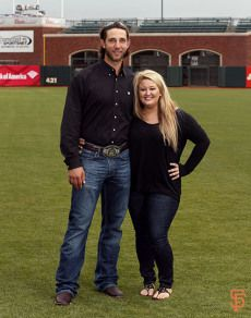 Madison Bumgarner and Ali Bumgarner (she is beautiful, people need to stop making fun of her weight)