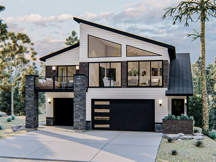 Carriage House Plan, 050G-0115 | Carriage house plans, Architectural design  house plans, Modern house exterior
