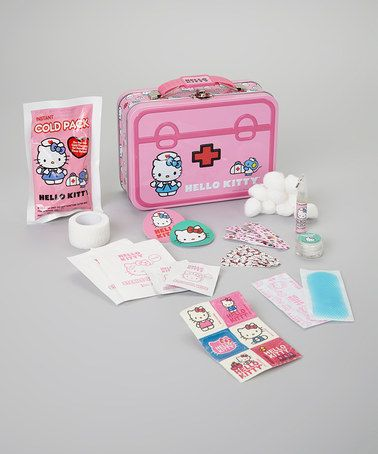 Take a look at this Hello Kitty Tin First Aid Set by Hello Kitty on #zulily today!
