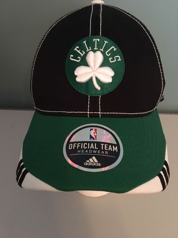 Adidas Official Team Headwear Climalite Celtics Black Green Hat L/XL  | eBay
