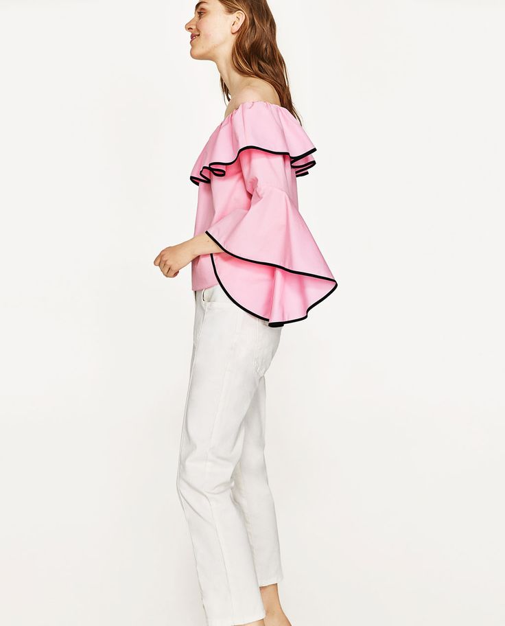 STRIPED BLOUSE WITH EMBROIDERY-NEW IN-WOMAN | ZARA United Kingdom