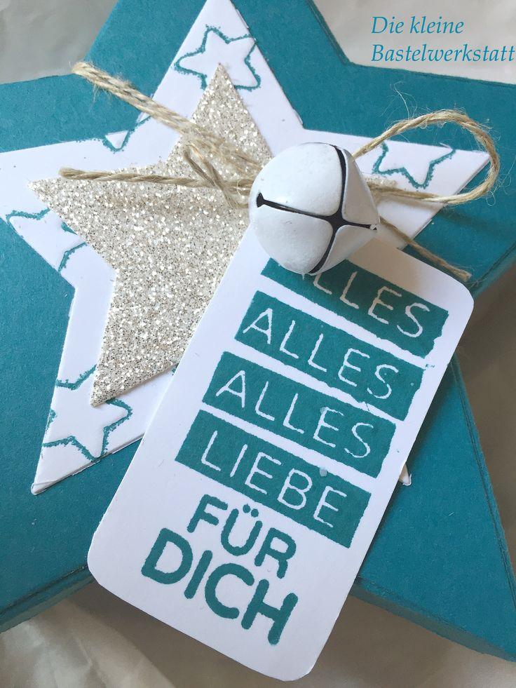 Stampin Up Weihnachten Stern Sternverpackung Keksverpackung Geschenk Geschenkverpackung Verpackung Glitzer Glitzerpapier