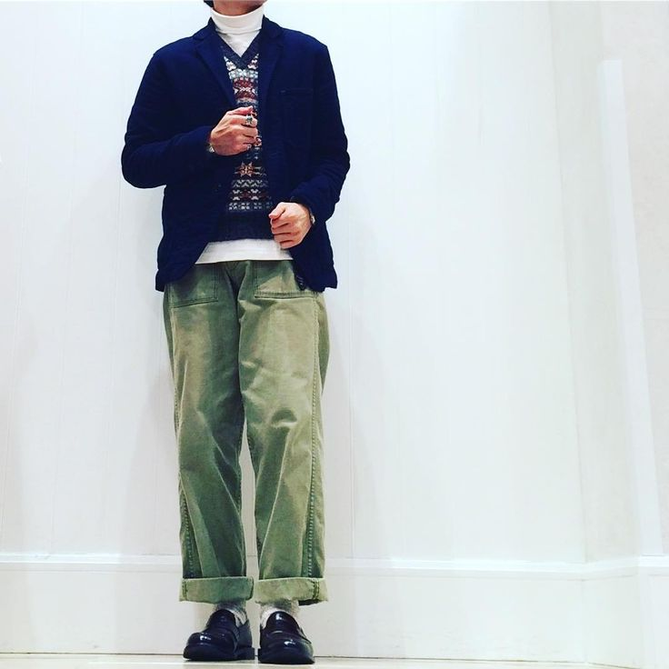 いいね!144件、コメント1件 ― fujiさん(@fuji524)のInstagramアカウント: 「todays outfit Vネックにタートル。 今季は、シャツを全然着てません。 #sabre #jamiesons #orslow #alden#instafashion…」
