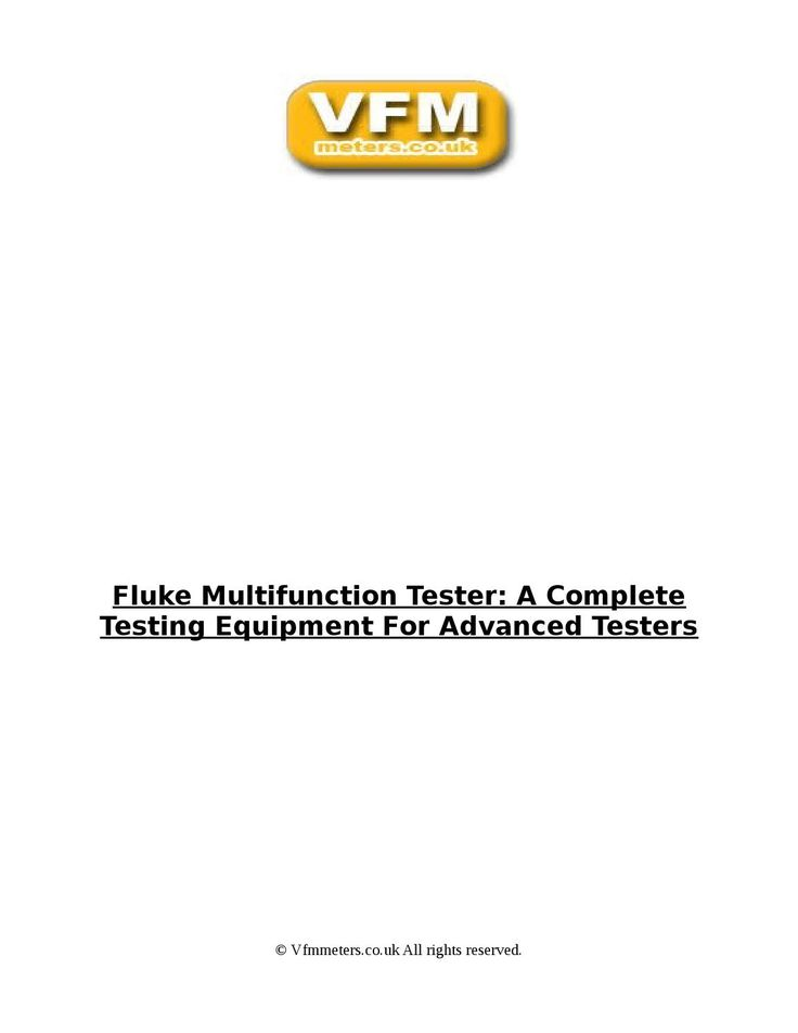 Genuine contact or non contact Fluke electrical voltage testers with phase sequence for motors with LED and LCD display. Order Now!