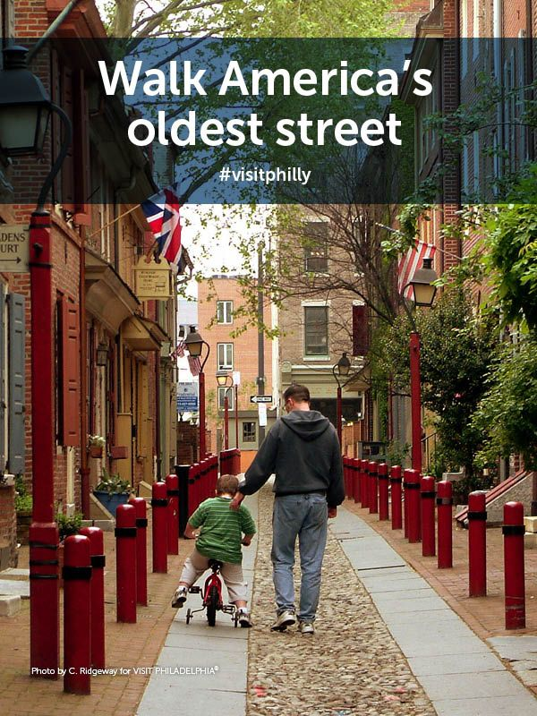 Philly Bucket List Tip: Walk America's oldest street, Elfreth's Alley. #visitphilly