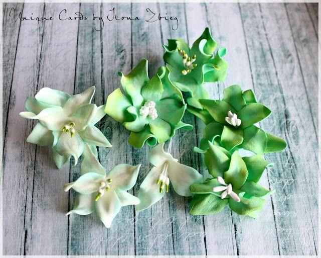 Agateria: Foamiranowe kwiatuszki z odbitych stempli - KURS
