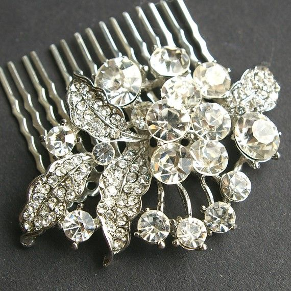Rhinestone Vintage Bridal Hair Comb, Crystal Wedding Hair Piece, Old Hollywood Bridal Hair Accessory, Art Deco Wedding Headpiece, LAUREL