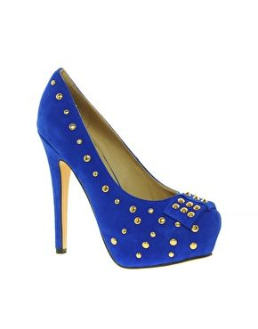 Dollybird Studded Platform Heeled Shoe