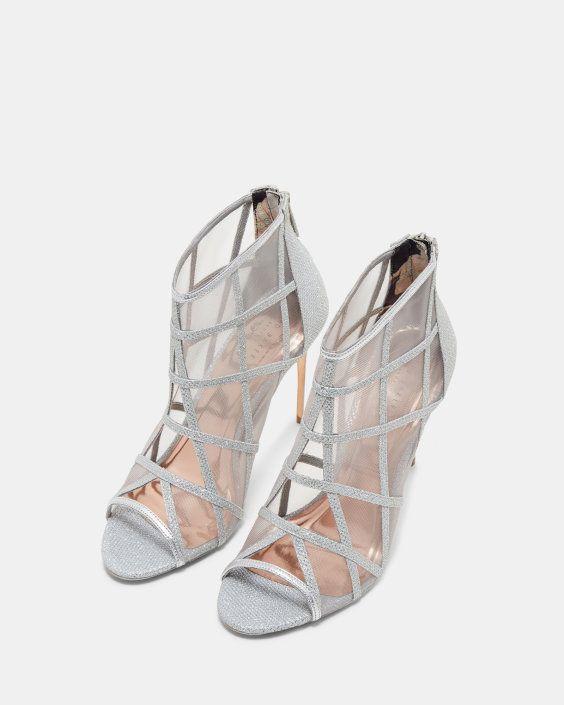 2747a16a731971 Metallic mesh peep-toe boots - ZZ-CRYSTAL