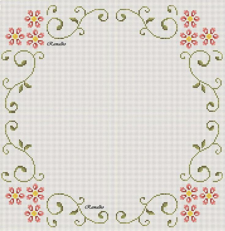arabescos e flores simples