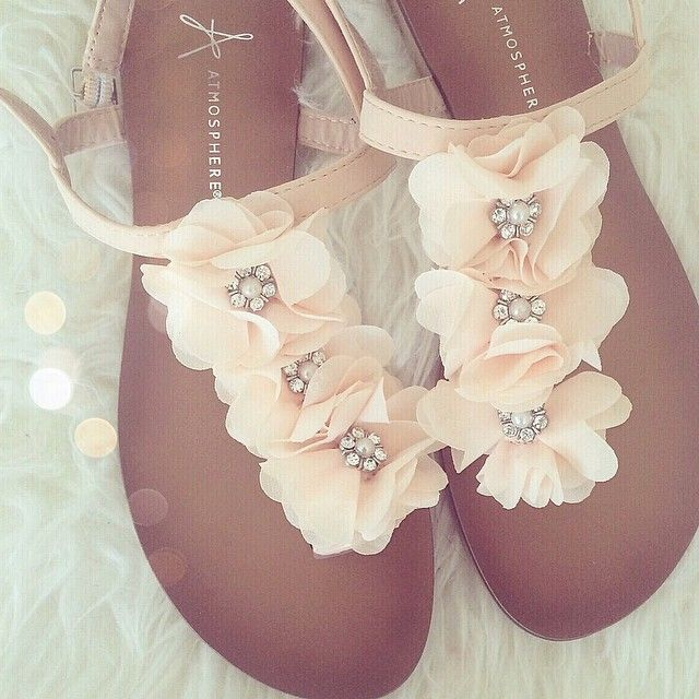 #wedding - flower sandals for a bride, bridesmaid, or for just attending a wedding.