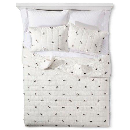Cream Knotted Tassel Bedding Collection - Nate Berkus™ : Target