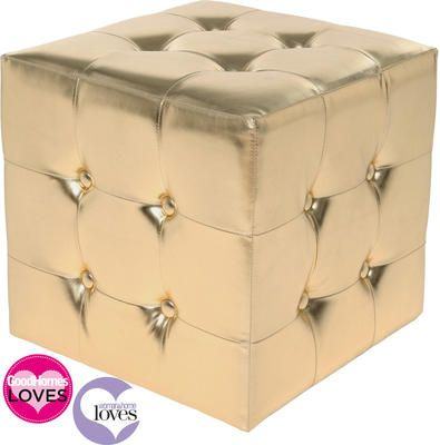 LOVE this Glamour Girl Gold Cube by The French Bedroom Company, a decadent touch for a teenage chill-out room. £145-£160
