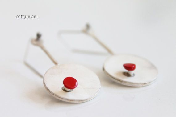 Silver jewelry earrings  Valentines earrings  White by notAjewelry, $71.90