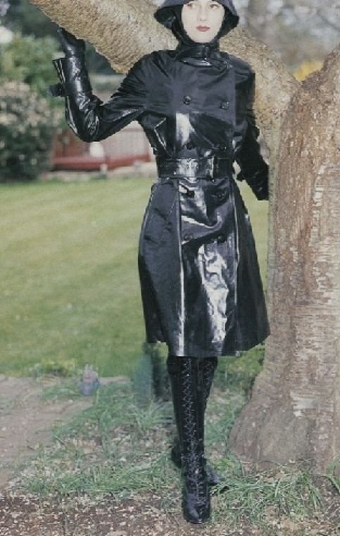 Latex leather rubber rainwear pvc