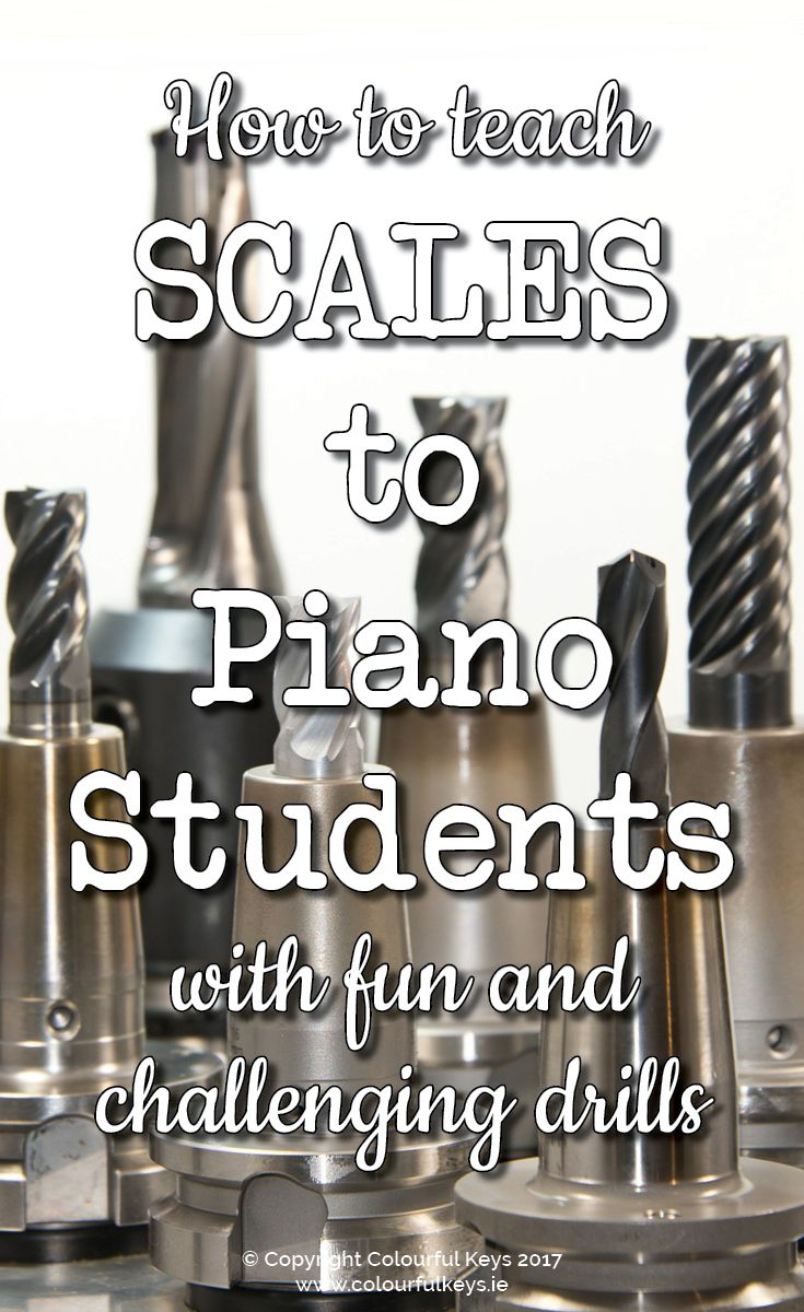 Have more fun teaching scales this week with these scale drills. http://colourfulkeys.ie/supreme-scale-drills-introducing-b-flat-major-scale/