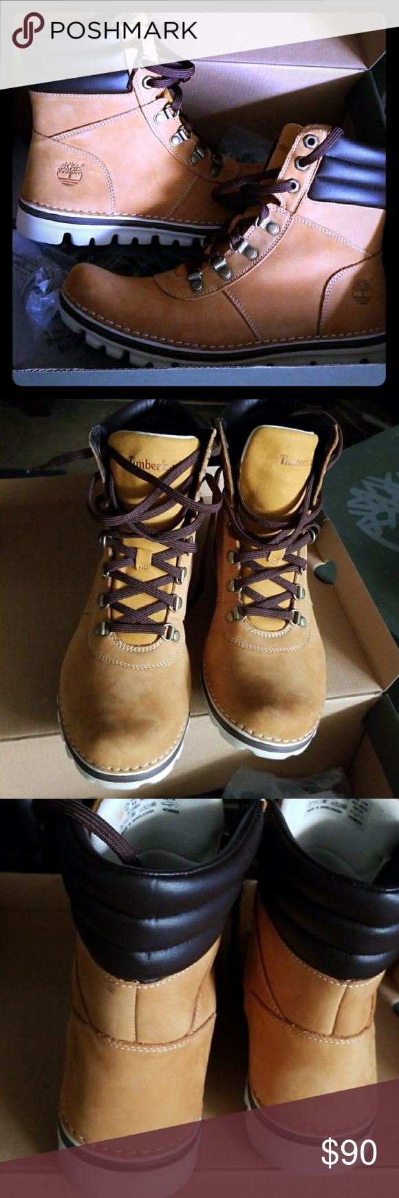 Timberland Brand new women's timberlands still in box never worn very comfortable size 8.5...if u have questions please direct them to me the seller I ran into a conversation about my product that i felt was very inappropriate so I reposted..if your interested price is negotiable thanks 🤗 Timberland Shoes Ankle Boots & Booties