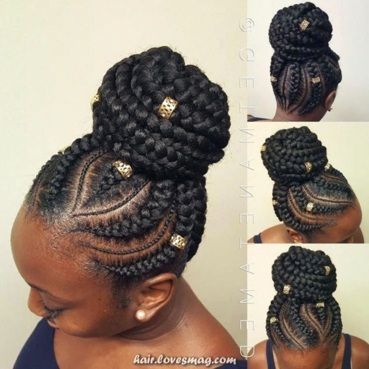Fantastic Photographs Creative And Great Curvy Goddess Braids With Rounded Bun Braids Hairstyles Thou Goddess Braid Bun Braided Hairstyles Hair Styles