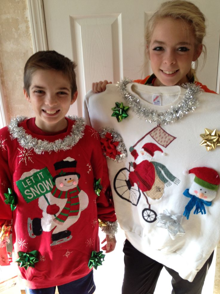 Ugly Christmas sweaters Craft your own #uglysweater for Holiday office parties