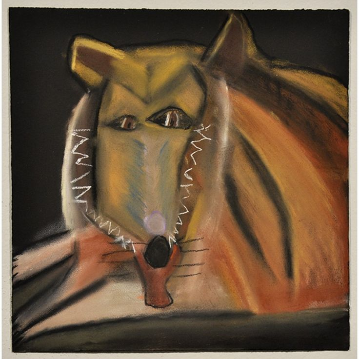 Dionne Canzano  Lassie 2012 pastel on paper 38 x 38 cm © Copyright the artist Represented by Arts Project Australia, Melbourne
