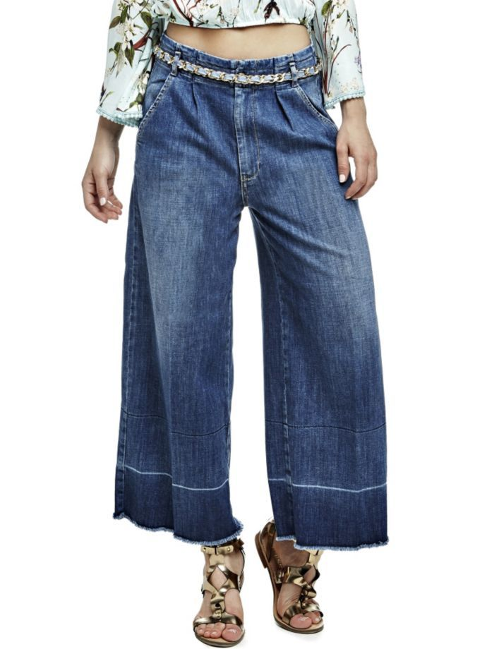 EUR129.90$  Watch now - http://viqkr.justgood.pw/vig/item.php?t=xlv7uyq18499 - CULOTTE JEANS WITH BELT EUR129.90$