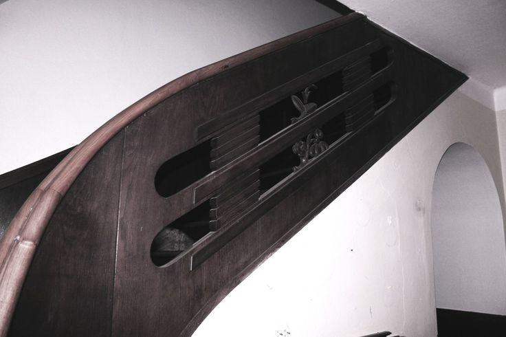 Zábradlí schodiště nacházející se v Sovenicích na nymbursku