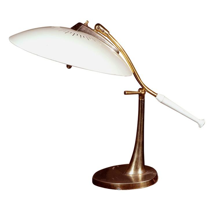 artemide white swivel table lamp.