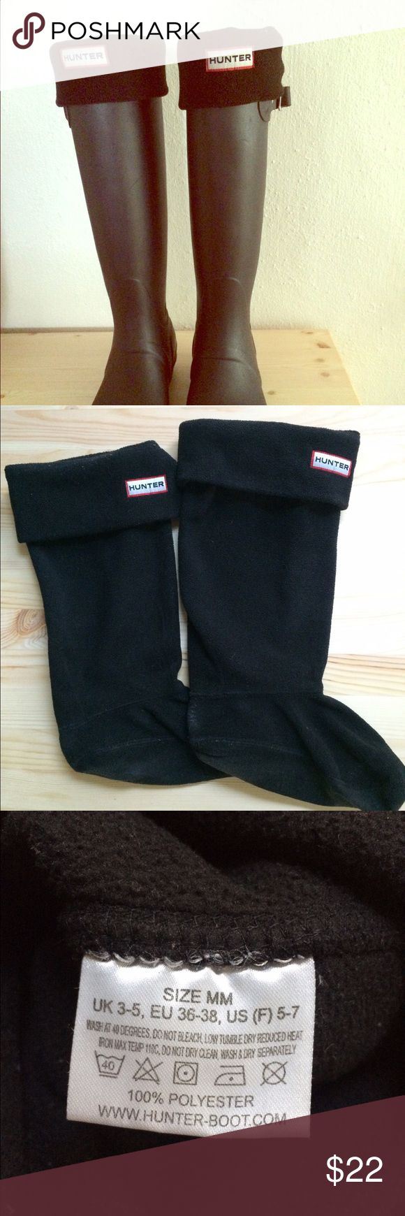 Hunter Welly Socks Supersoft fleece is fashioned into a cozy boot sock designed to add warmth and comfort to your favorite footwear. For Hunter 'Original Tall' rain boots. 100% polyester; machine wash warm, tumble dry low. Hunter Boots Accessories