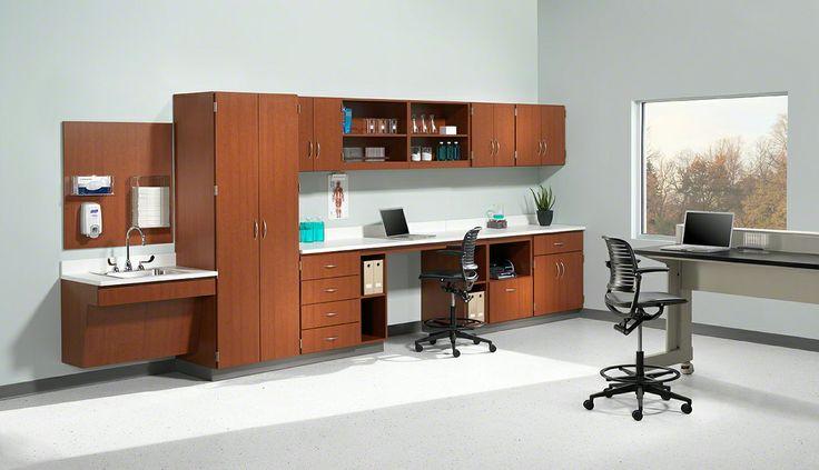 Healthcare storage cabinets and touchdown spaces | Folio by Nurture