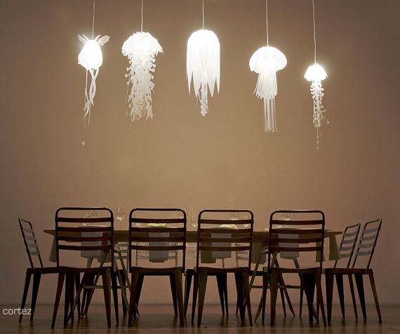 Jellyfish Lamps Shine Rather Than Sting