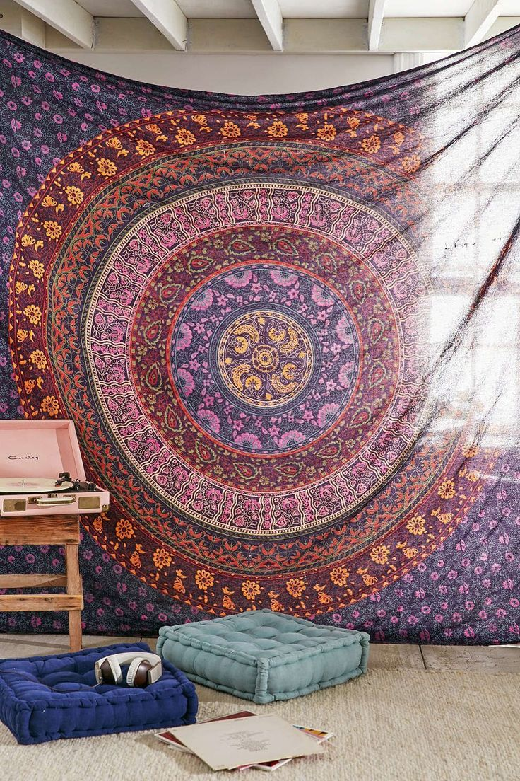 Urban outfitters bedroom tapestry - Large Hippie Tapestry Hippy Mandala Bohemian Tapestries Indian Dorm Decor Psychedelic Tapestry Wall Hanging Ethnic Decorative Urban Tapestry