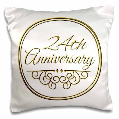3drose 24th anniversary gift gold text for celebrating wedding anniversaries 24 years married together