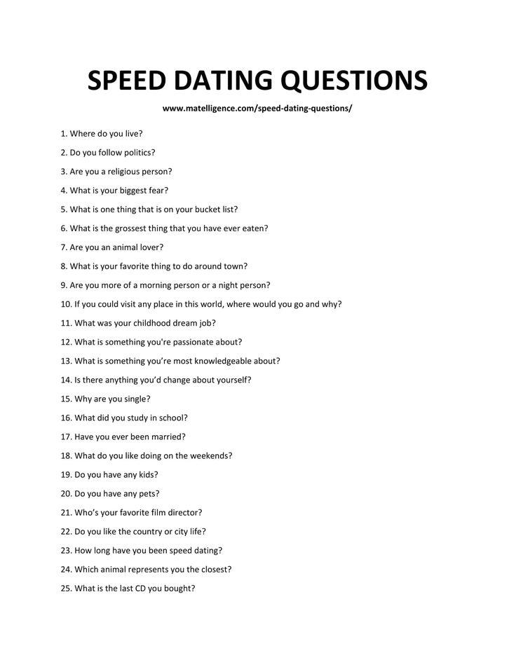 7 lucruri despre care poti discuta la intalnirile de tip speed dating! – Stil de Viata