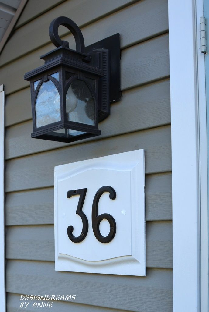 I've been a little unhappy with my house number lately.  It isn't really obvious from the street and house numbers are really important...