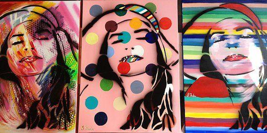 Self-portrait series!  Canvas 50x70 (for sale)