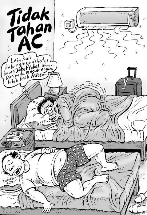 Kartun Benny, 100 Peristiwa: Tidak Tahan AC