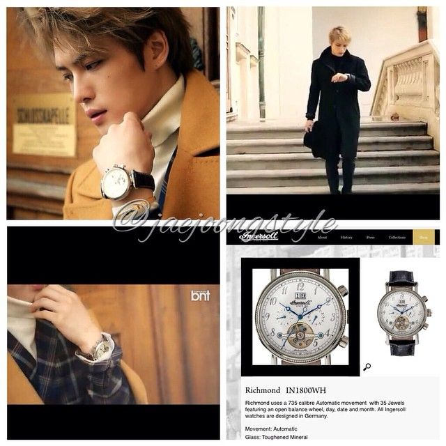 JJ is wearing an @ingersollwatchesusa Richmond IN1800WH. Price: $440. (credit: @officialbntnews YT video and ingersollwatches.com) #Ingersoll #watch #Jaejoong #JYJ #BNT #fashion #KimJaejoong #김재중 @ingersoll_watches