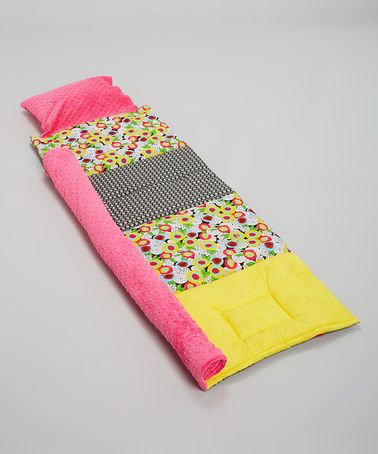 Look at this #zulilyfind! Pink Pop Art Personalized Quilted Nap Mat by Janiebee #zulilyfinds