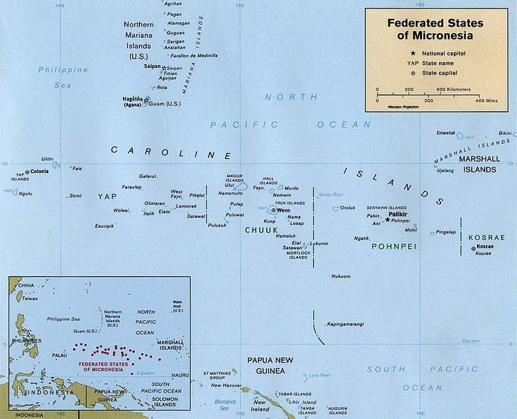 Map of the Federated States of Micronesia CIA ◆Federated States of Micronesia - Wikipedia http://en.wikipedia.org/wiki/Federated_States_of_Micronesia #Micronesia