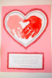 Valentines Day craft. Would also work for Mother's Day.
