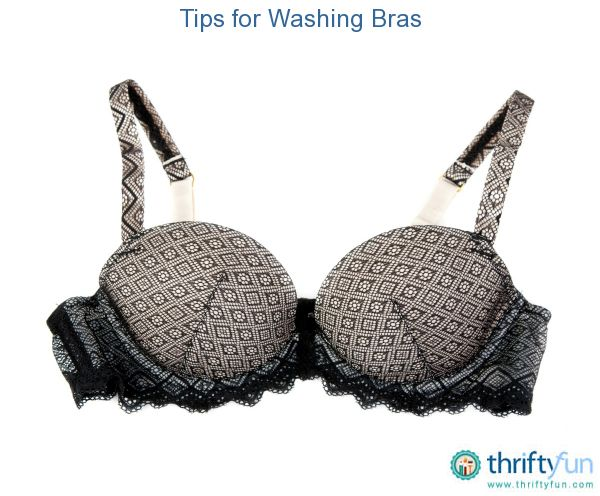 This is a guide about washing bras. Bras can be washed by hand or in the machine if care is taken.